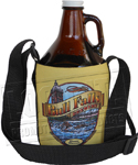 Growler Carriers - Neoprene - Strap - 64 oz - Full Color